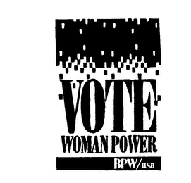 VOTE WOMAN POWER BPW/USA