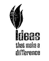 IDEAS THAT MAKE A DIFFERENCE