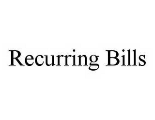 RECURRING BILLS