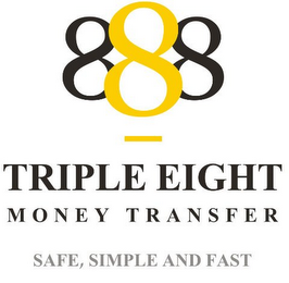 888 TRIPLE EIGHT MONEY TRANSFER SAFE, SIMPLE AND FAST