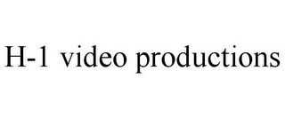 H-1 VIDEO PRODUCTIONS